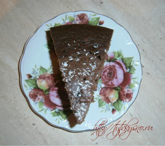 Шоколадный манник фото.