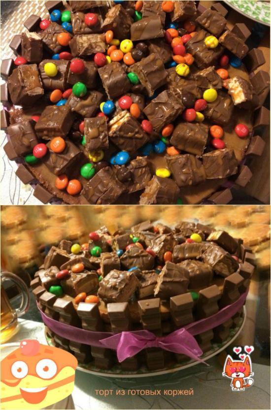 Торт из готовых коржей от ТутВкусно!