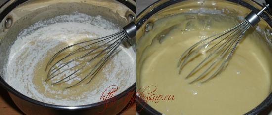 рецепт простой медовый торт: Каждую порцию муки хорошо перемешиваем, что бы не образовались комочки.