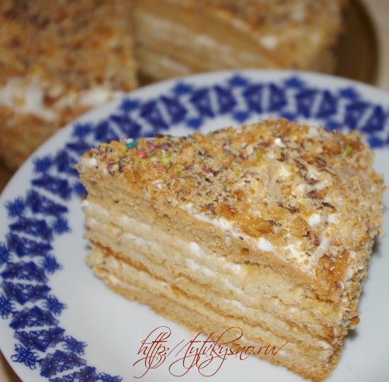 рецепт очень простого медового торта с фото