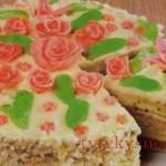 Торт с маком «Розовый рай» .