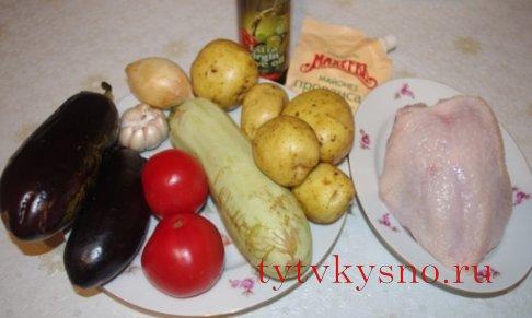 Как приготовить овощное рагу с курицей, фото ингредиенты