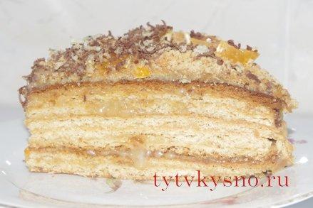 """самый вкусный рецепт Медовый торт """"Рыжик"""" пошаговый рецепт Фото"""