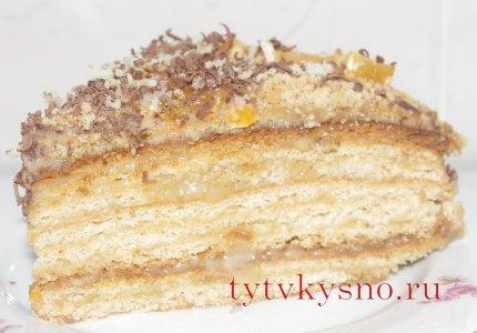 """Медовый торт """"Рыжик"""""""
