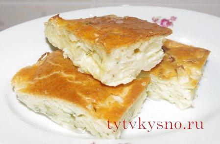 Быстрый заливной пирог с капустой от ТутВкусно