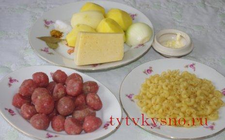 Сырный суп с фрикадельками.