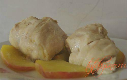 Курица с яблоками в мультиварке пошаговый рецепт с фото