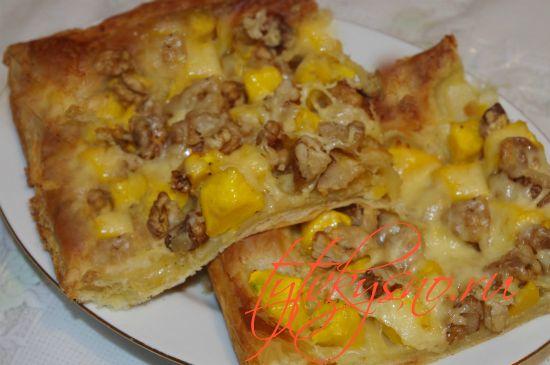 Пошаговый рецепт: Пирог из слоеного теста с тыквой .