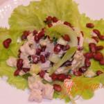теплый салат из курицы с имбирем