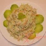 Салат из зеленой редьки. Рецепт.