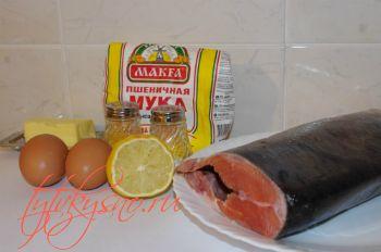 Ингредиенты рецепта Жареная красная рыба. Рецепт с фото