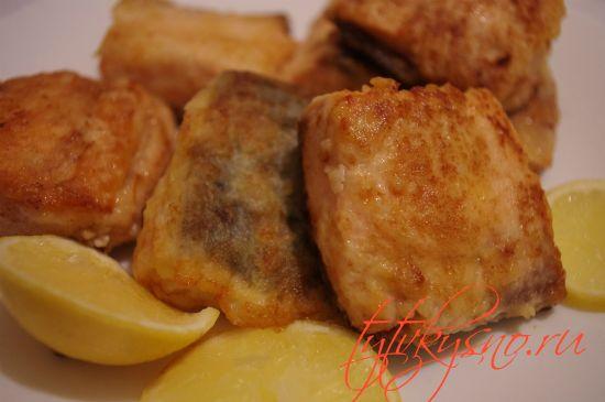 аппетитная жаренная красная рыба, рецепт с фото