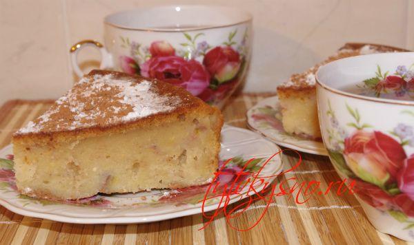 Творожный кекс с бананом. Рецепт с фото.