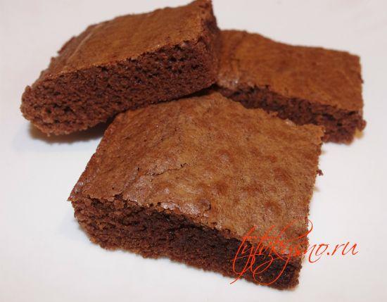 готовые Брауни в виде пирожных.