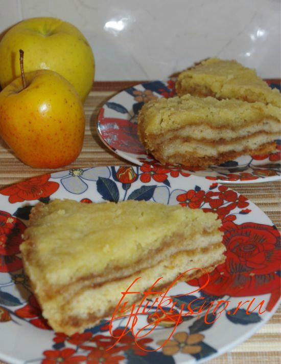как готовить венгерский насыпной яблочный пирог