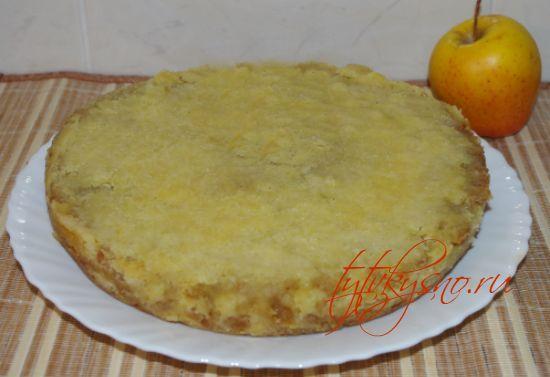 пошаговый рецепт Венгерский насыпной яблочный пирог очень простой