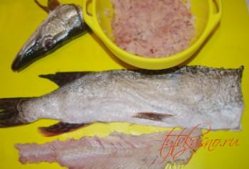 рецепт: щука фаршированная- отделяем мясо от костей