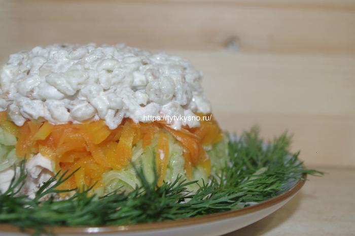 Салат с перловкой рецепт с курицей очень вкусный