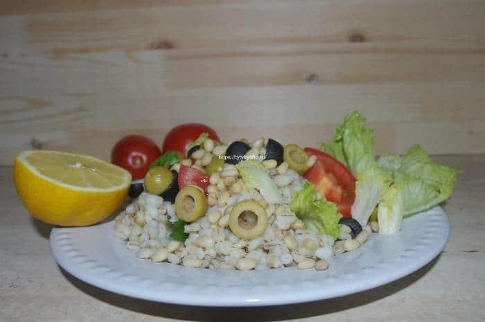 Салат с перловкой полезный, простой, вкусный