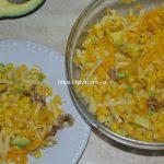 Салат с тыквой, авокадо и сыром