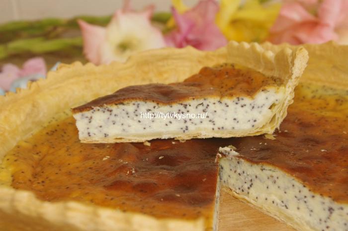 Вкусный пирог: рецепт открытого пирога с маком