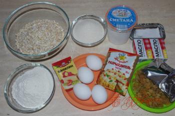 Ингредиенты для рецепта Овсяное печенье с изюмом и шоколадом (+фото)