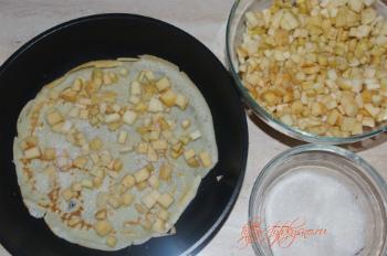 готовим для пирога из блинов с яблоками начинку