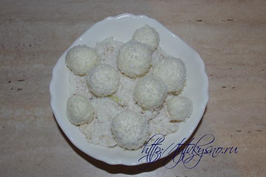 новогодний вкусный салат снежки