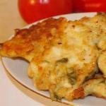 фото куриные оладьи с сыром