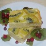 Перевернутый пирог, рецепт с киви