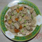 Куриное филе с хурмой фото блюда