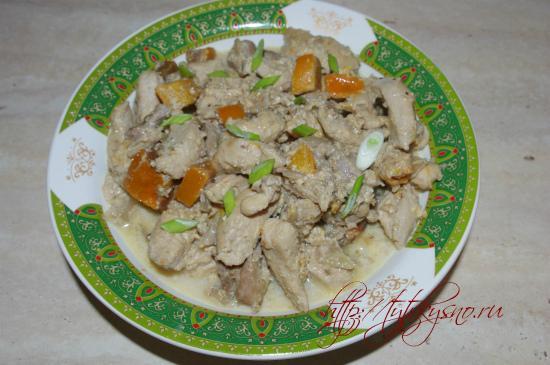 куриное филе с хурмой - блюдо гурманов