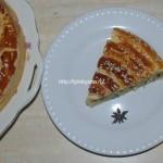 Пирог Улитка из слоеного теста с сыром и зеленью
