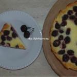 Заливной пирог с вишней (черешней)