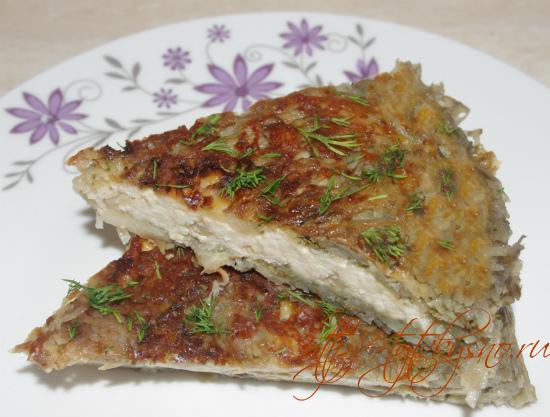 как приготовить картофельный пирог с сыром и грибами рецепт с фото в сковороде