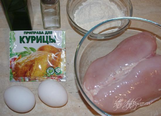 ингредиенты рецепта пушистые куриные отбивные в кляре
