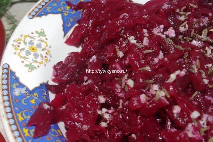 салат из свеклы с хреном фото