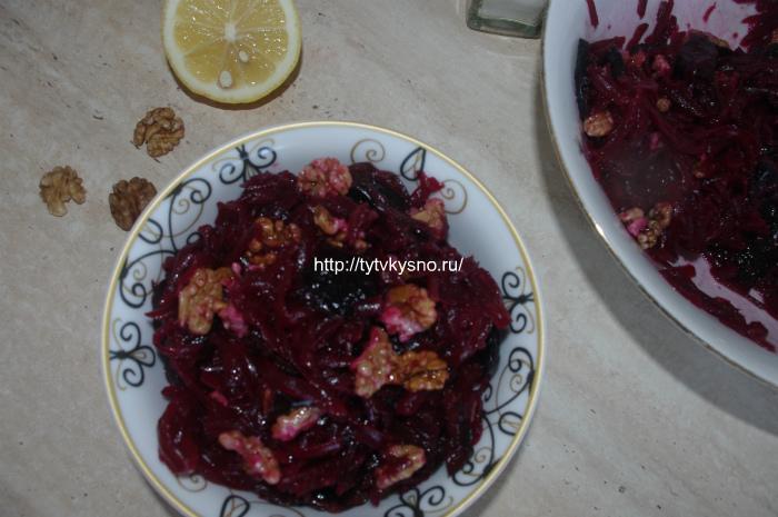 вкусные салаты из свеклы для постного стола