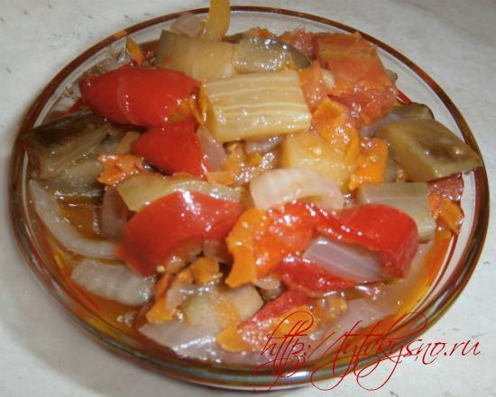 салат с баклажанами на зиму