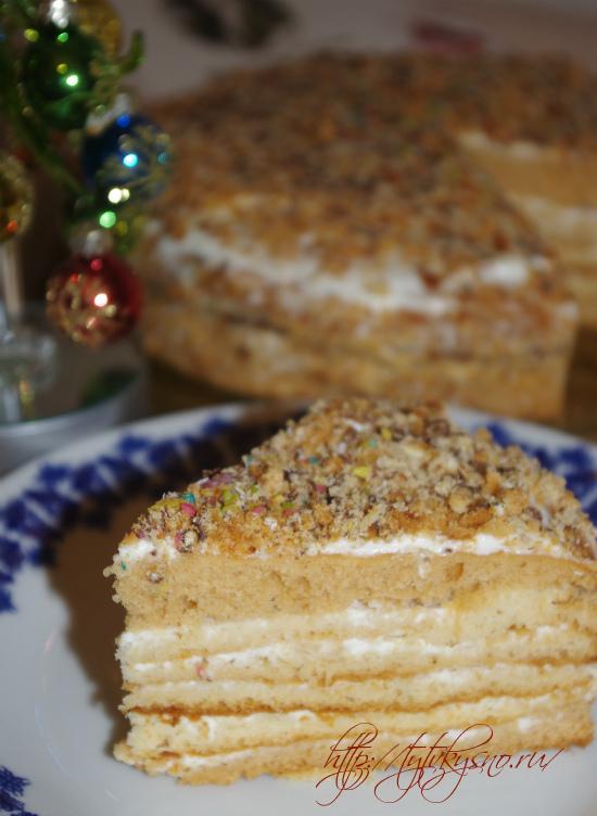простой медовый легкий торт +на праздник