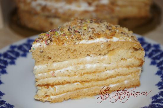 пошаговый рецепт простого медового торта с фото