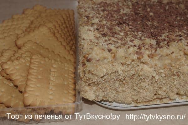 пошаговый фото рецепт торта из печенья с бананами